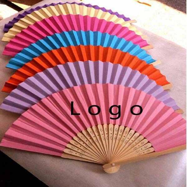 custom chinese bamboo folding hand fan