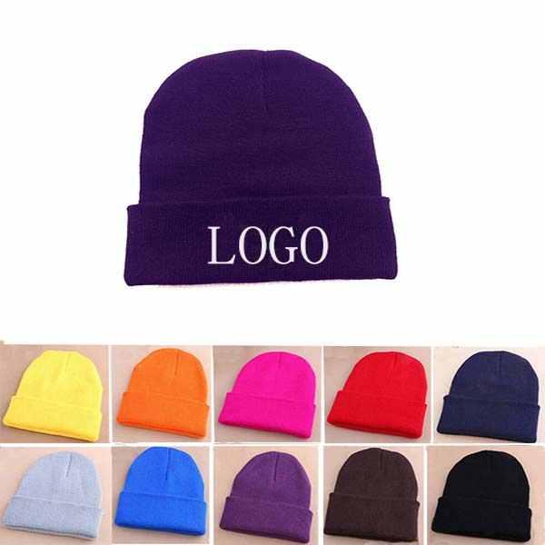 High Quality Acrylic Custom Knitted Caps