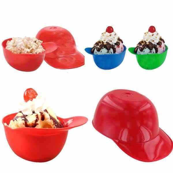 Mini baseball helmet ice cream bowl, 8 oz