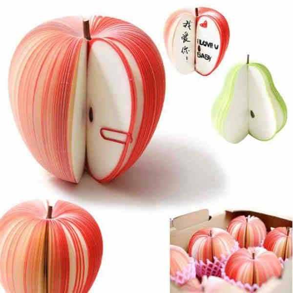 Apple shaped memo pad